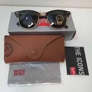 RayBan RB3016-W0366-51 Clubmaster Brown Sunglasses